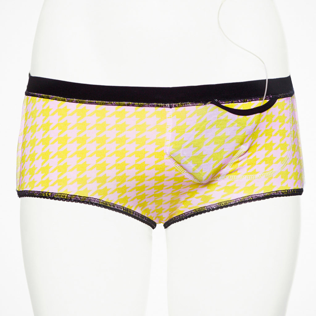 Ruby Limes Insulin Pump Panty with Fashion Pepita Print inside view