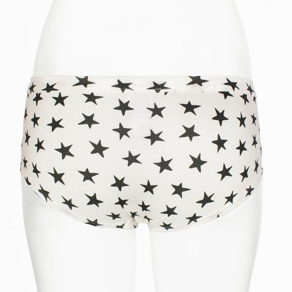Ruby Limes insulin pump panty with stars pattern front view
