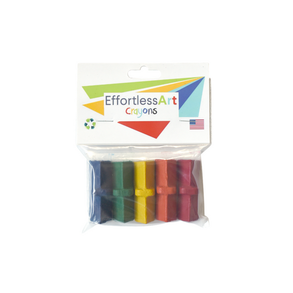 Level 1 Effortless Art Crayons (5 Pack)