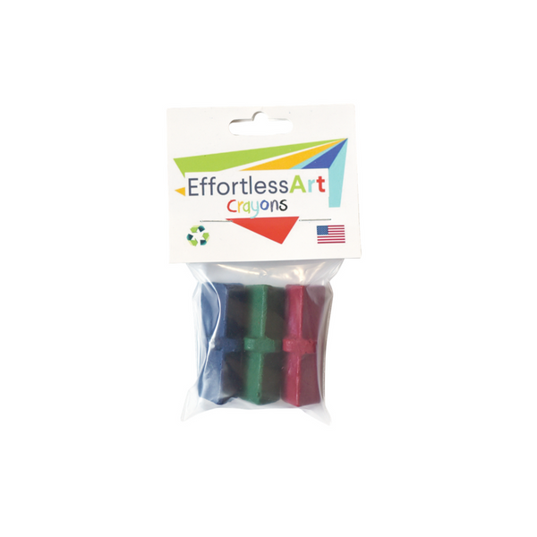 Level 1 Effortless Art Crayons (3 Pack)