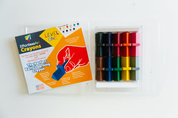 Level 1 Effortless Art Crayons (10 Pack)