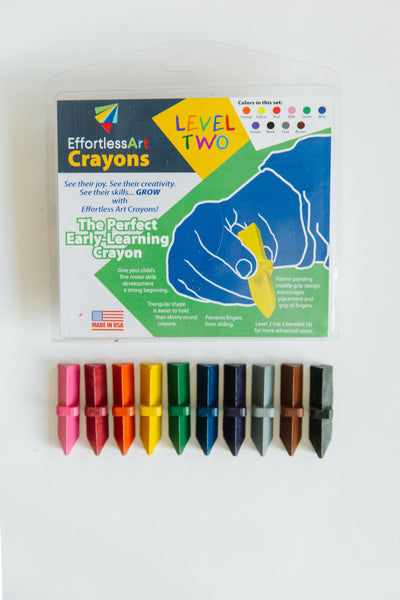 Level 2 Effortless Art Crayons (10 Pack)