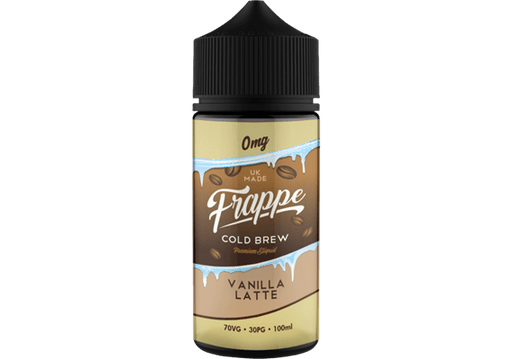 VANILLA LATTE E LIQUID BY FRAPPE 100ML 70VG - Eliquids Outlet