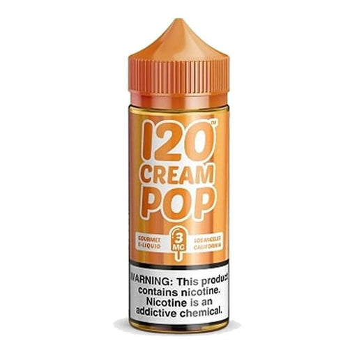 120 CREAM POP E LIQUID BY MAD HATTER 100ML 70VG - Eliquids Outlet