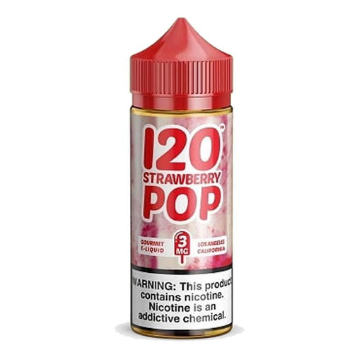 120 STRAWBERRY POP E LIQUID BY MAD HATTER 100ML 70VG - Eliquids Outlet