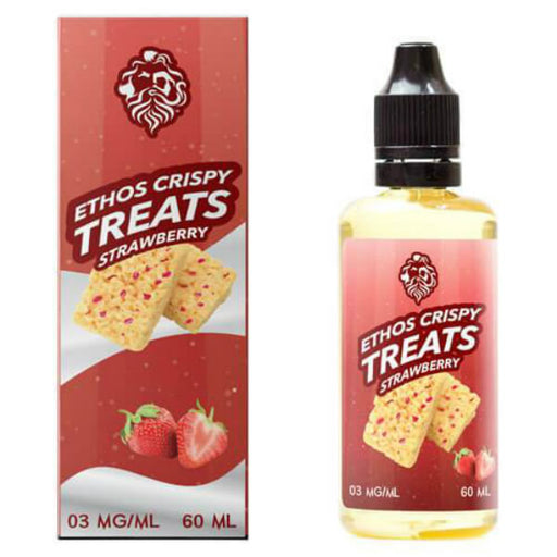 STRAWBERRY CRISPY E LIQUID BY ETHOS - CRISPY TREATS 50ML 75VG