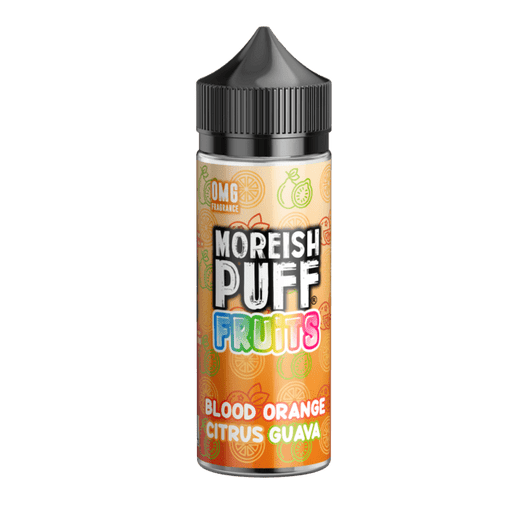 BLOOD ORANGE CITRUS GUAVA E LIQUID BY MOREISH PUFF - FRUITS 100ML 70VG - Eliquids Outlet