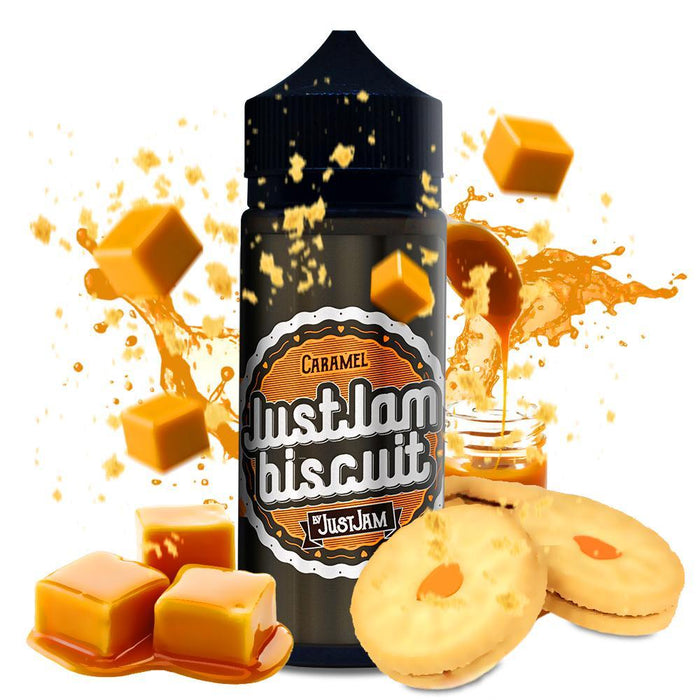 CARAMEL E LIQUID BY JUST JAM - BISCUIT 100ML 80VG