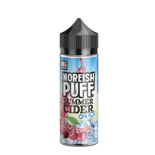 CHERRY E LIQUID BY MOREISH PUFF - SUMMER CIDER ON ICE 100ML 70VG - Eliquids Outlet