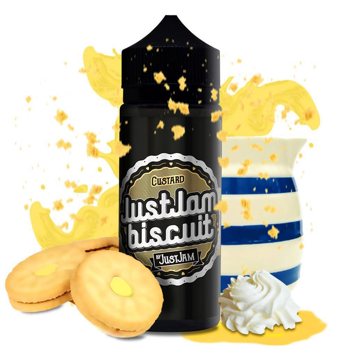 CUSTARD E LIQUID BY JUST JAM - BISCUIT 100ML 80VG
