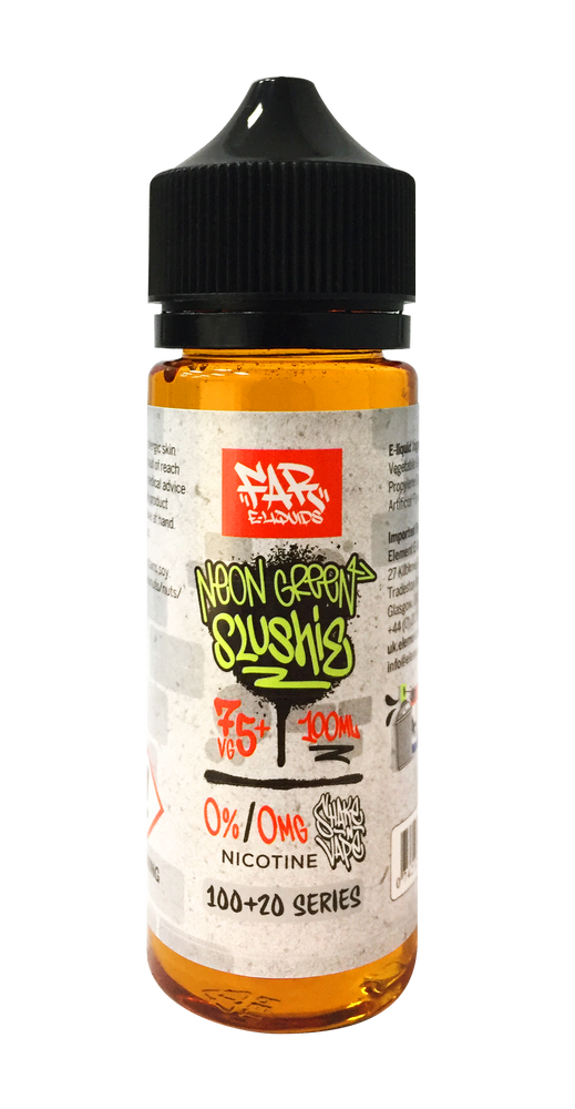 NEON GREEN SLUSHIE E LIQUID BY FAR - ELEMENT 100ML 75VG