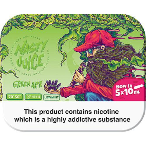 GREEN APE E LIQUID BY NASTY JUICE - TDP MULTIPACK 5 X 10ML 70VG - Eliquids Outlet