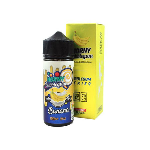 BANANA BUBBLEGUM E LIQUID BY HORNY FLAVA 100ML 70VG