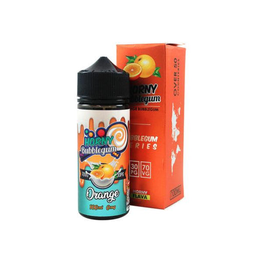 ORANGE BUBBLEGUM E LIQUID BY HORNY FLAVA 100ML 70VG