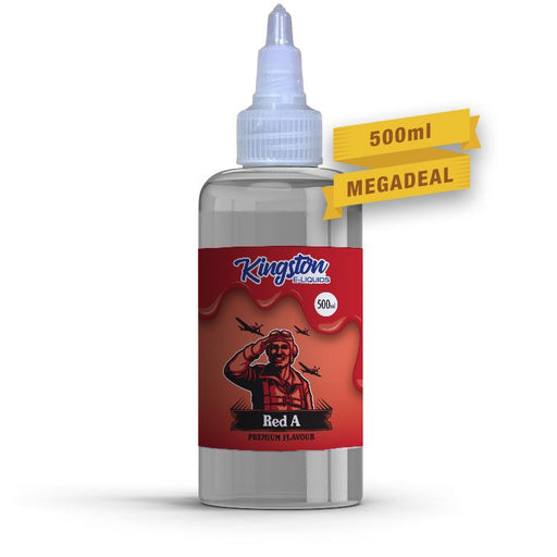 RED A E LIQUID KINGSTON ZINGBERRY 500ML 70VG - Eliquids Outlet