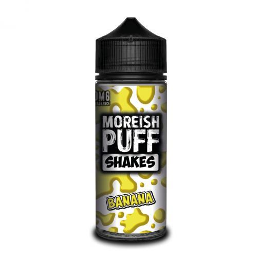 BANANA E LIQUID BY MOREISH PUFF - SHAKES 100ML 70VG