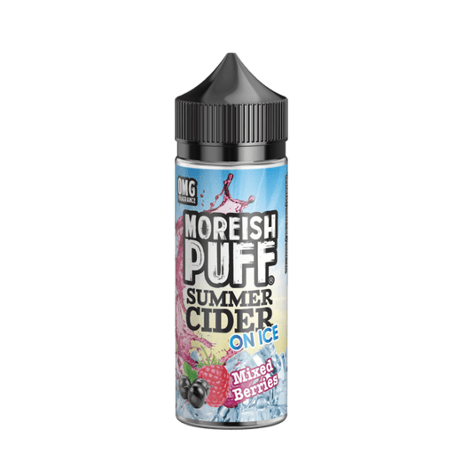 MIXED BERRIES E LIQUID BY MOREISH PUFF - SUMMER CIDER ON ICE 100ML 70VG - Eliquids Outlet