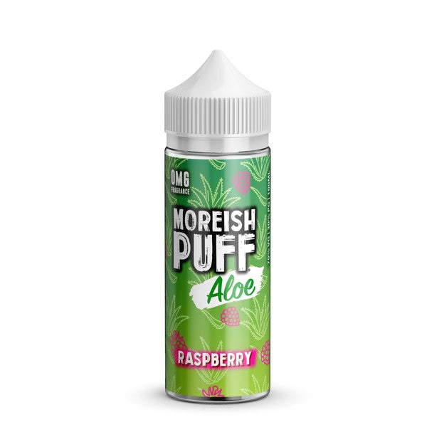 RASPBERRY E LIQUID BY MOREISH PUFF - ALOE 100ML 70VG