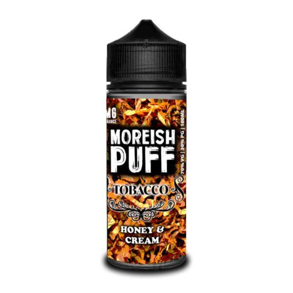 HONEY AND CREAM TOBACCO E LIQUID BY MOREISH PUFF - TOBACCO 100ML 70VG