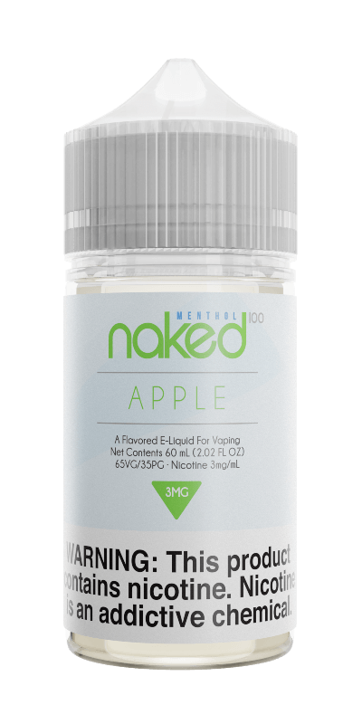 APPLE (FORMERLY APPLE COOLER) E LIQUID BY NAKED 100 - MENTHOL 50ML 70VG - Eliquids Outlet