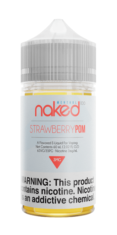 STRAWBERRY POM (FORMERLY BRAIN FREEZE) E LIQUID BY NAKED 100 - MENTHOL 50ML 70VG - Eliquids Outlet
