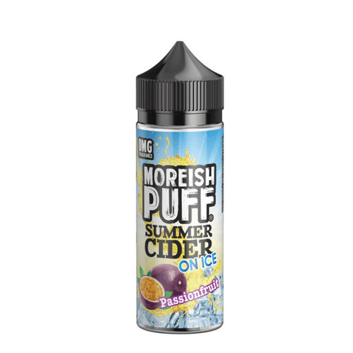 PASSIONFRUIT E LIQUID BY MOREISH PUFF - SUMMER CIDER ON ICE 100ML 70VG - Eliquids Outlet