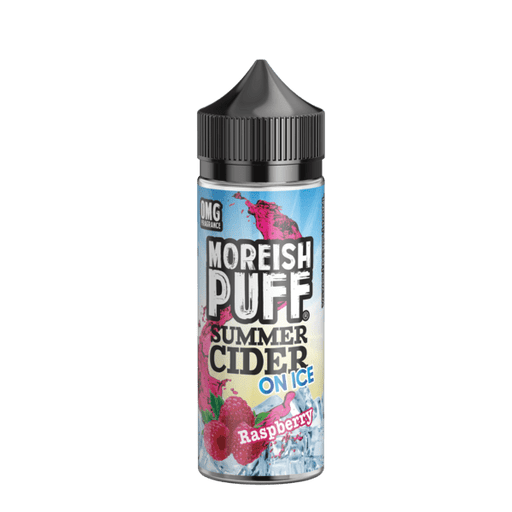 RASPBERRY E LIQUID BY MOREISH PUFF - SUMMER CIDER ON ICE 100ML 70VG - Eliquids Outlet