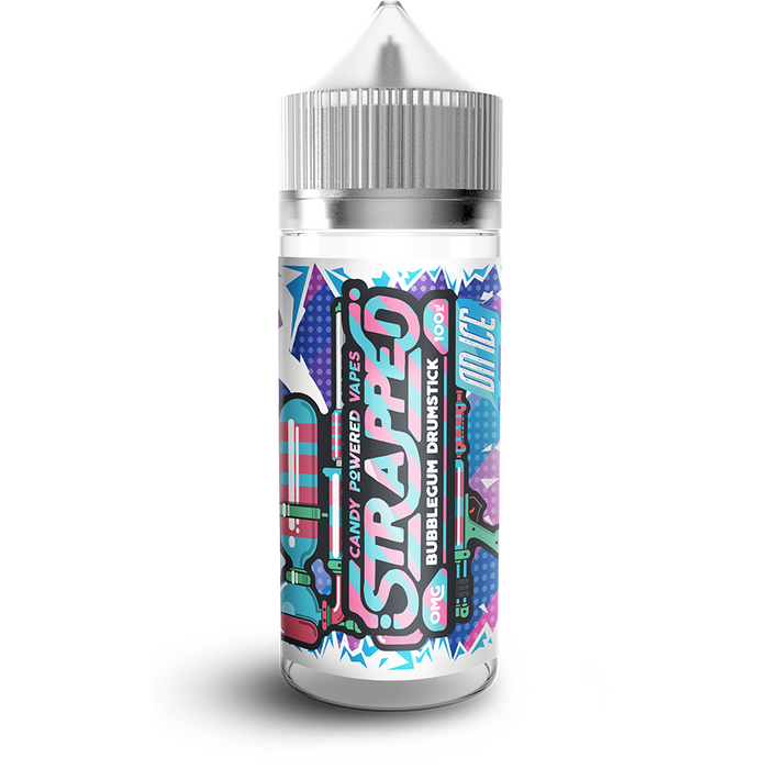 BUBBLEGUM DRUMSTICK ON ICE E LIQUID BY STRAPPED 100ML 70VG