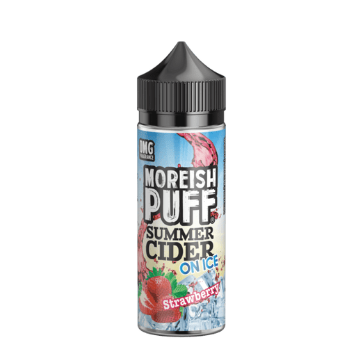 STRAWBERRY E LIQUID BY MOREISH PUFF - SUMMER CIDER ON ICE 100ML 70VG - Eliquids Outlet