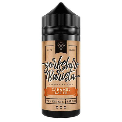 CARAMEL LATTE E LIQUID BY YORKSHIRE BARISTA 100ML 70VG