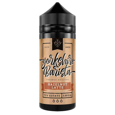 HAZELNUT LATTE E LIQUID BY YORKSHIRE BARISTA 100ML 70VG
