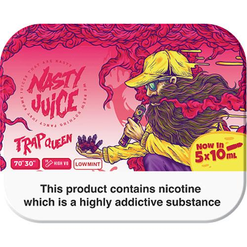 TRAP QUEEN E LIQUID BY NASTY JUICE - TDP MULTIPACK 5 X 10ML 70VG - Eliquids Outlet