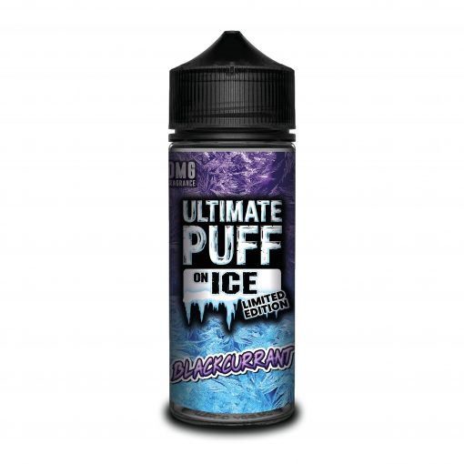 BLACKCURRANT E LIQUID BY ULTIMATE PUFF ON ICE 100ML 70VG