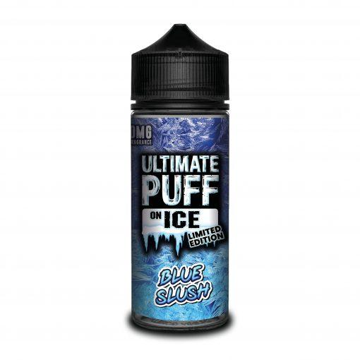 BLUE SLUSH E LIQUID BY ULTIMATE PUFF ON ICE 100ML 70VG - Eliquids Outlet