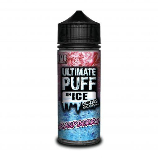 RASPBERRY E LIQUID BY ULTIMATE PUFF ON ICE 100ML 70VG - Eliquids Outlet