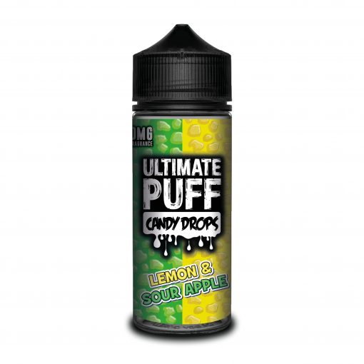 LEMON & SOUR APPLE E LIQUID BY ULTIMATE PUFF CANDY DROPS 100ML 70VG
