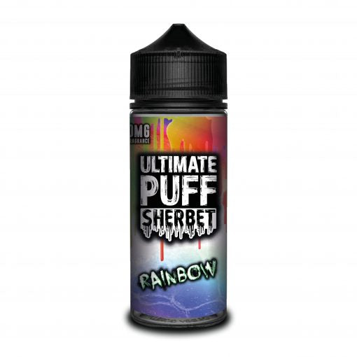 RAINBOW E LIQUID BY ULTIMATE PUFF SHERBET 100ML 70VG