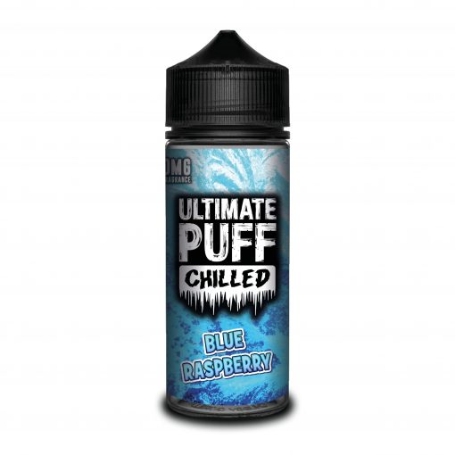 BLUE RASPBERRY E LIQUID BY ULTIMATE PUFF CHILLED 100ML 70VG
