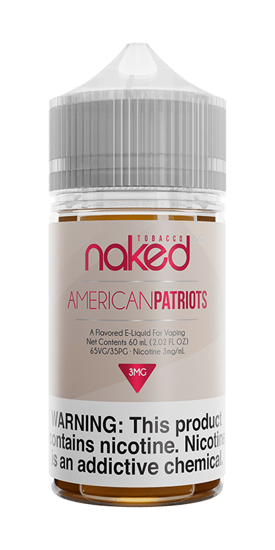 AMERICAN PATRIOTS E LIQUID BY NAKED 100 - TOBACCO 50ML 70VG - Eliquids Outlet