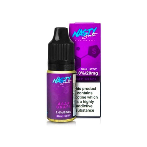 ASAP GRAPE NICOTINE SALT E-LIQUID BY NASTY SALT - Eliquids Outlet