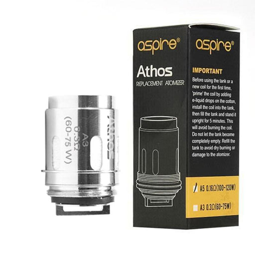 ASPIRE ATHOS VAPE REPLACEMENT ATOMIZER COIL HEADS - Eliquids Outlet