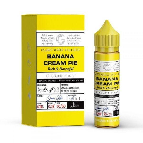 BANANA CREAM PIE E LIQUID BY GLAS BASIX 50ML 70VG - Eliquids Outlet