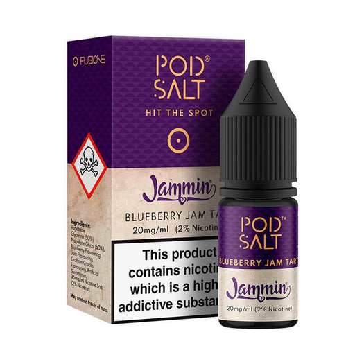 BLUEBERRY JAM TART NICOTINE SALT E-LIQUID BY POD SALT FUSIONS RANGE - Eliquids Outlet