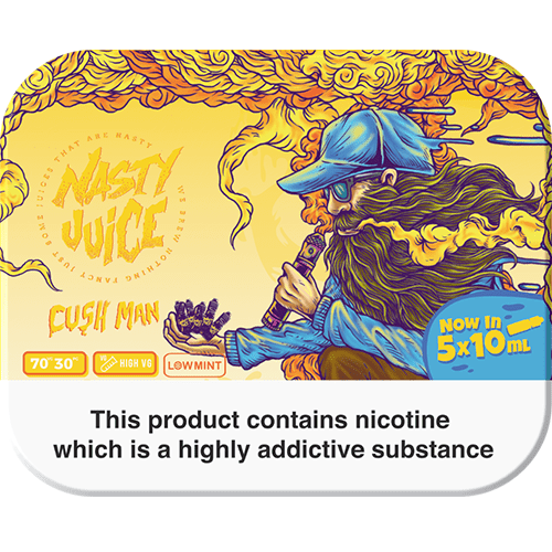 CUSH MAN E LIQUID BY NASTY JUICE - TDP MULTIPACK 5 X 10ML 70VG - Eliquids Outlet