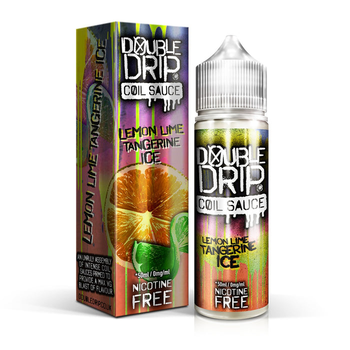 LEMON LIME TANGERINE ICE E LIQUID BY DOUBLE DRIP 50ML 80VG