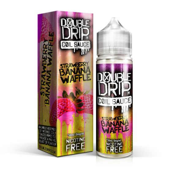 STRAWBERRY BANANA WAFFLE E LIQUID BY DOUBLE DRIP 50ML 80VG