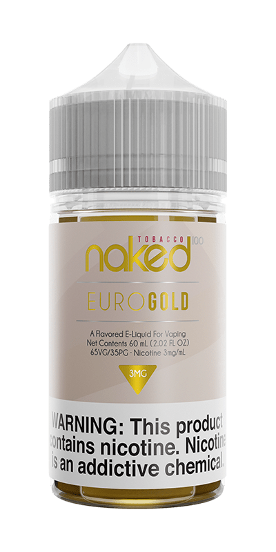 EURO GOLD E LIQUID BY NAKED 100 - TOBACCO 50ML 70VG - Eliquids Outlet