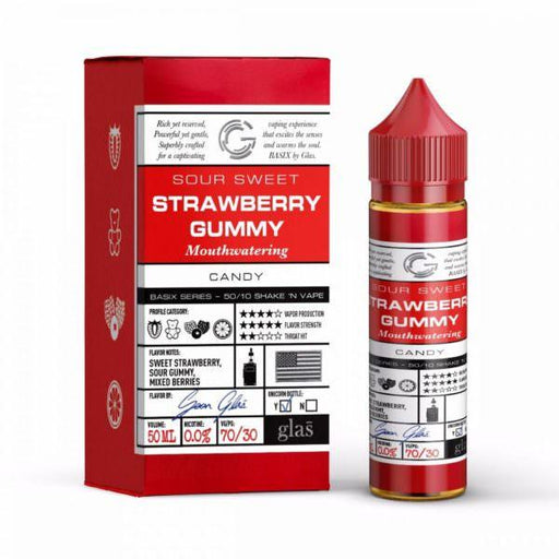 STRAWBERRY GUMMY E LIQUID BY GLAS BASIX 50ML 70VG - Eliquids Outlet