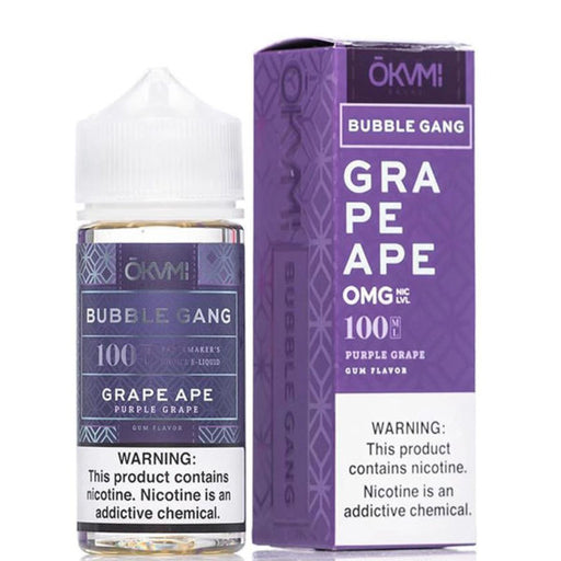 GRAPE APE E LIQUID BY OKVMI - BUBBLE GANG 100ML 70VG