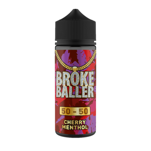 CHERRY MENTHOL E LIQUID BY BROKE BALLER 100ML 50VG